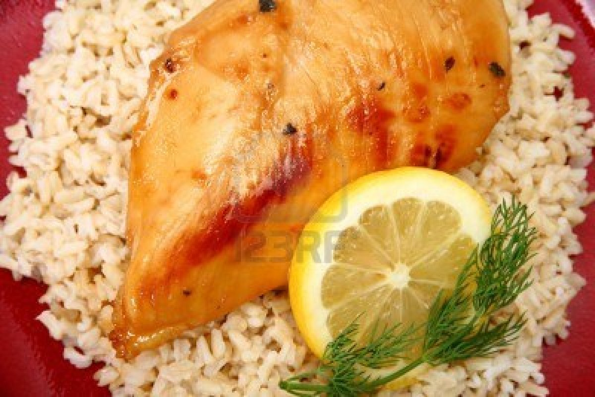 Green Tea Chicken With Lemon Rice Recipe — Dishmaps